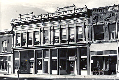 Black and white photo of a Nineteenth-Century Commercial building