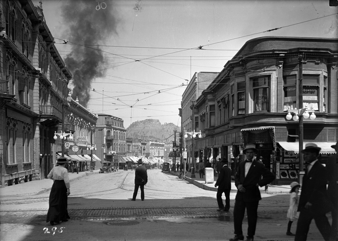 A view of a fire on Commercial Street in Trinidad, taken by Otis Aultman, c.1905.