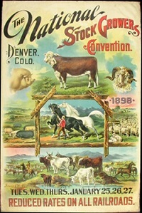 National Stock Growers Convention poster 1898