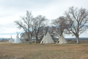 Tipis at the Ute Memorial Site
