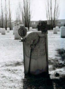 Headstone at Homelake Cemetery.