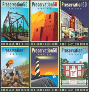 Preservation 50 posters.