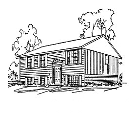 Line drawing of a Bi-level home