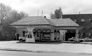 Example of House with Canopy Gas Station Type