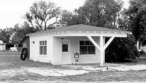 Example of House with Canopy Gas Station