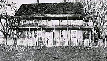 Black and white photo of a Central Pass Double-Pile Residence circa 1931.