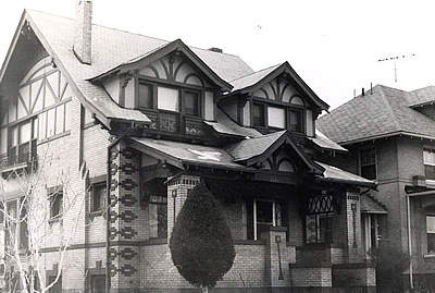 A residential house in the Craftsman architectural style.