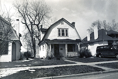 Dutch Colonial Revival style house in Denver.
