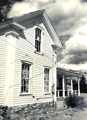 Black and white photo of the Greek Revival style