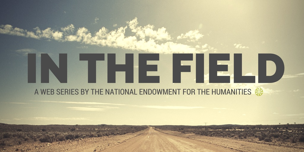 In the Field web series logo featuring the title and a lone dirt road extending toward the horizon.