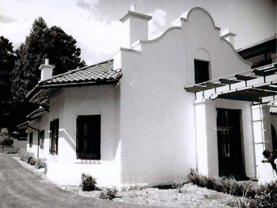 An example of the Mission architectural style in El Paso county.