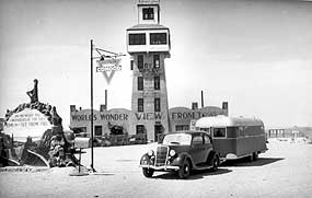 Historic photo of the Wonder View tower.