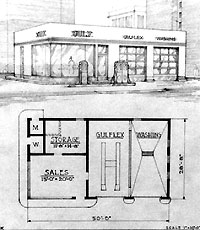 Old Gas Station Drawing Oblong Box Gas ...
