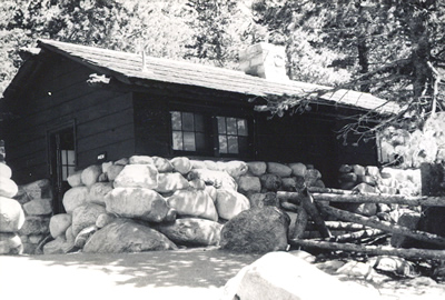 An example of the rustic architecture style in Rocky Mountain National Park