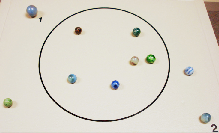Marbles recovered from Amache
