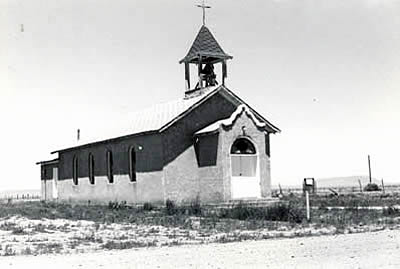 The Sacred Heart Mission in Garcia is an example of the Territorial Adobe type.