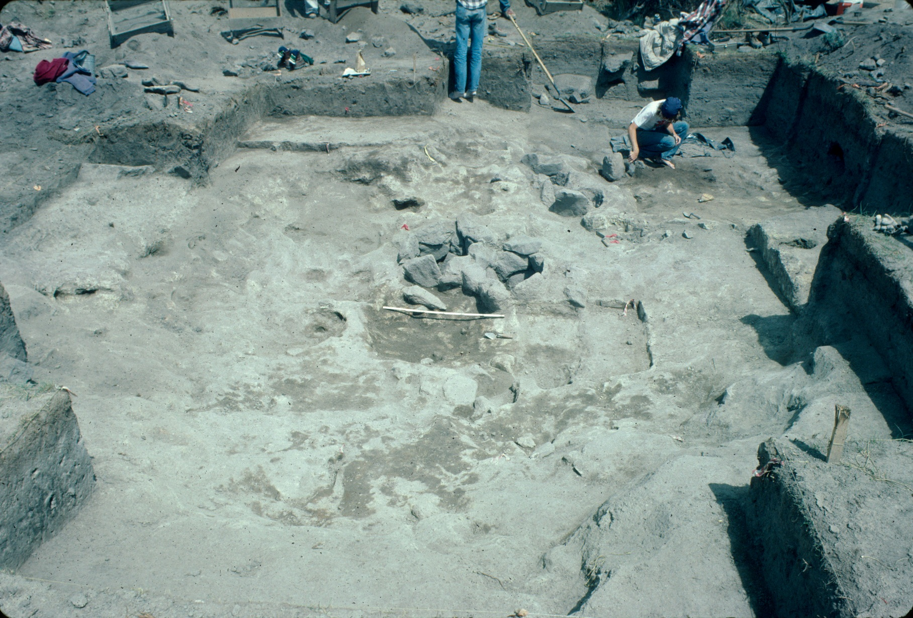 An excavated pithouse at the Yarmony site.