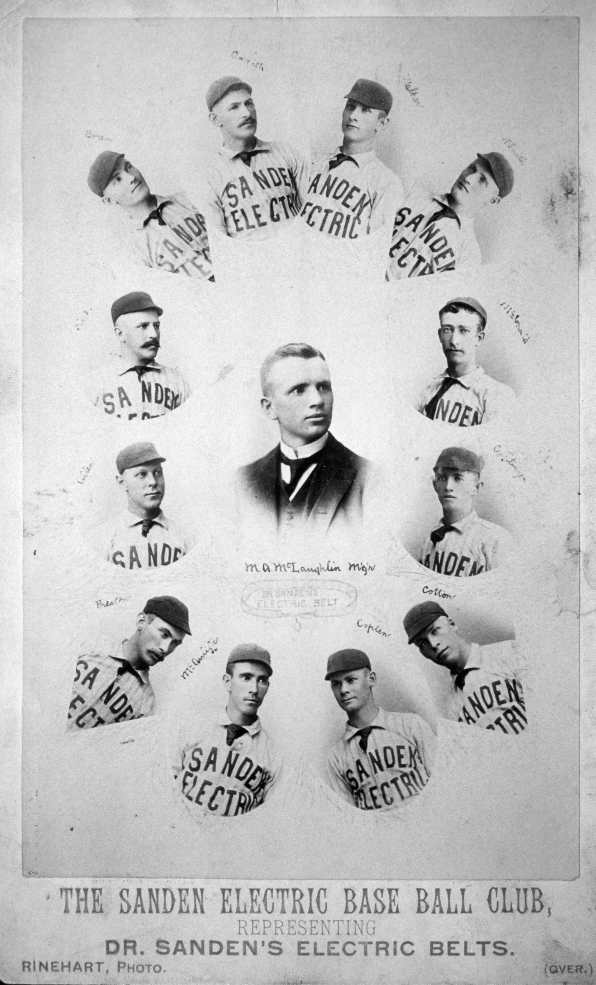 The Sanden Electric Baseball Club in Denver 1891