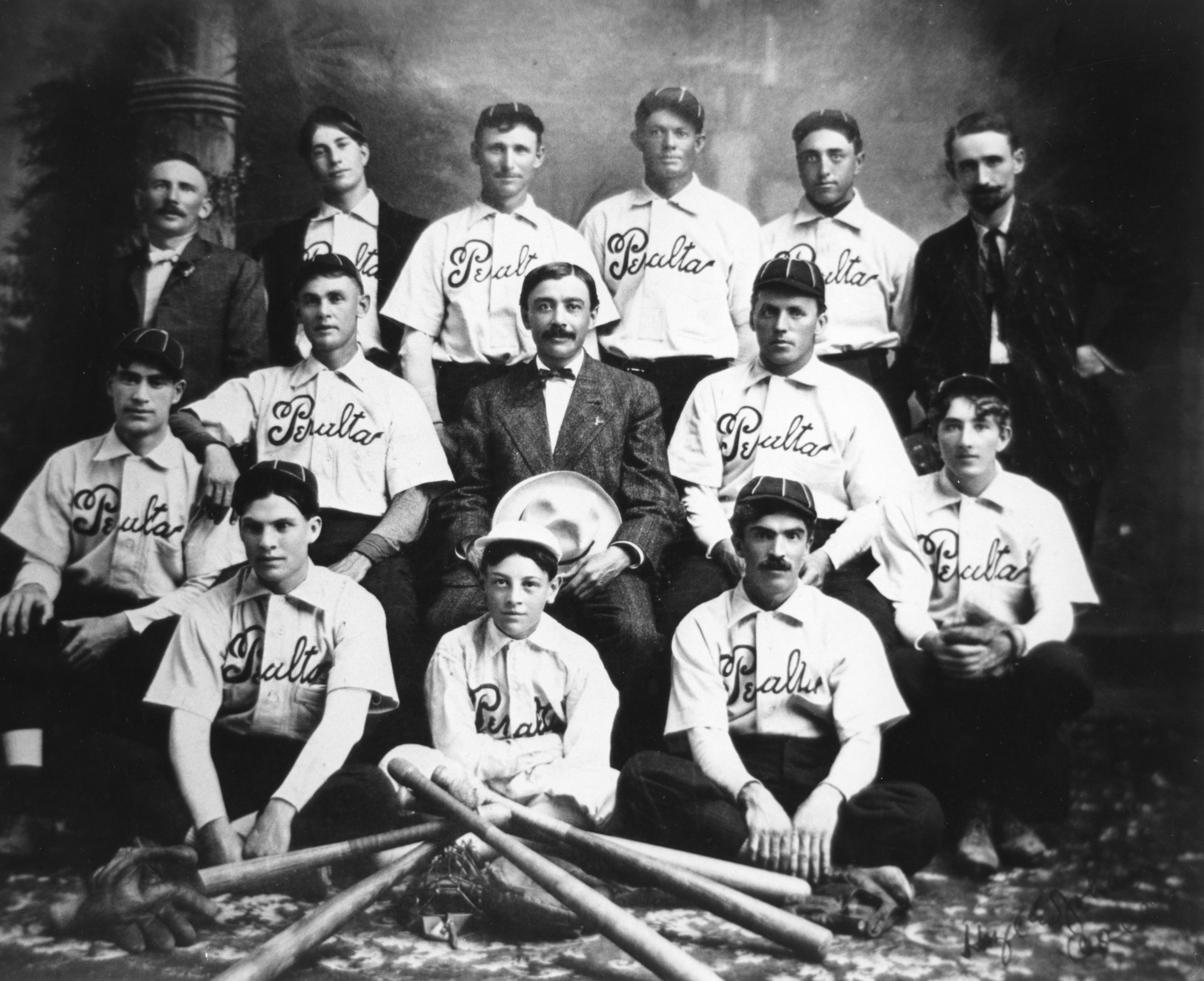 Peralta baseball team, Greeley, about 1910