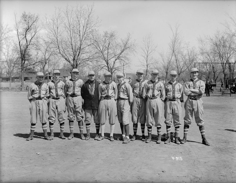 Mountain State Telephone and Telegraph Company Gallup Street baseball team, Denver, about 1917