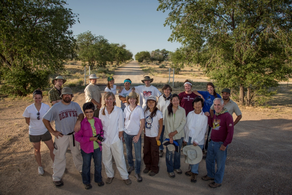 Faculty and participants of the University of Denver Amache Field School