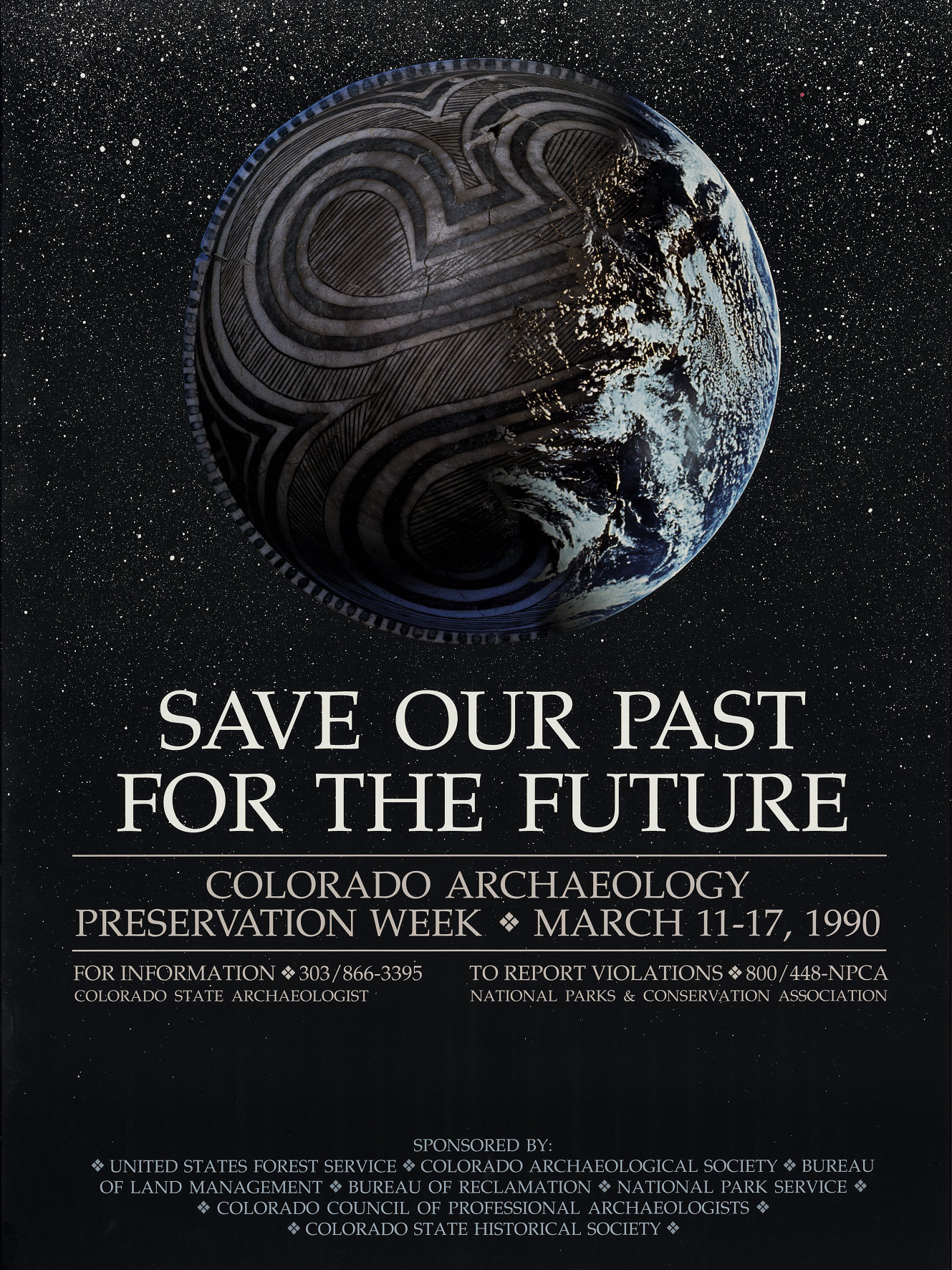 1990 Archaeology & Historic Preservation Week poster.