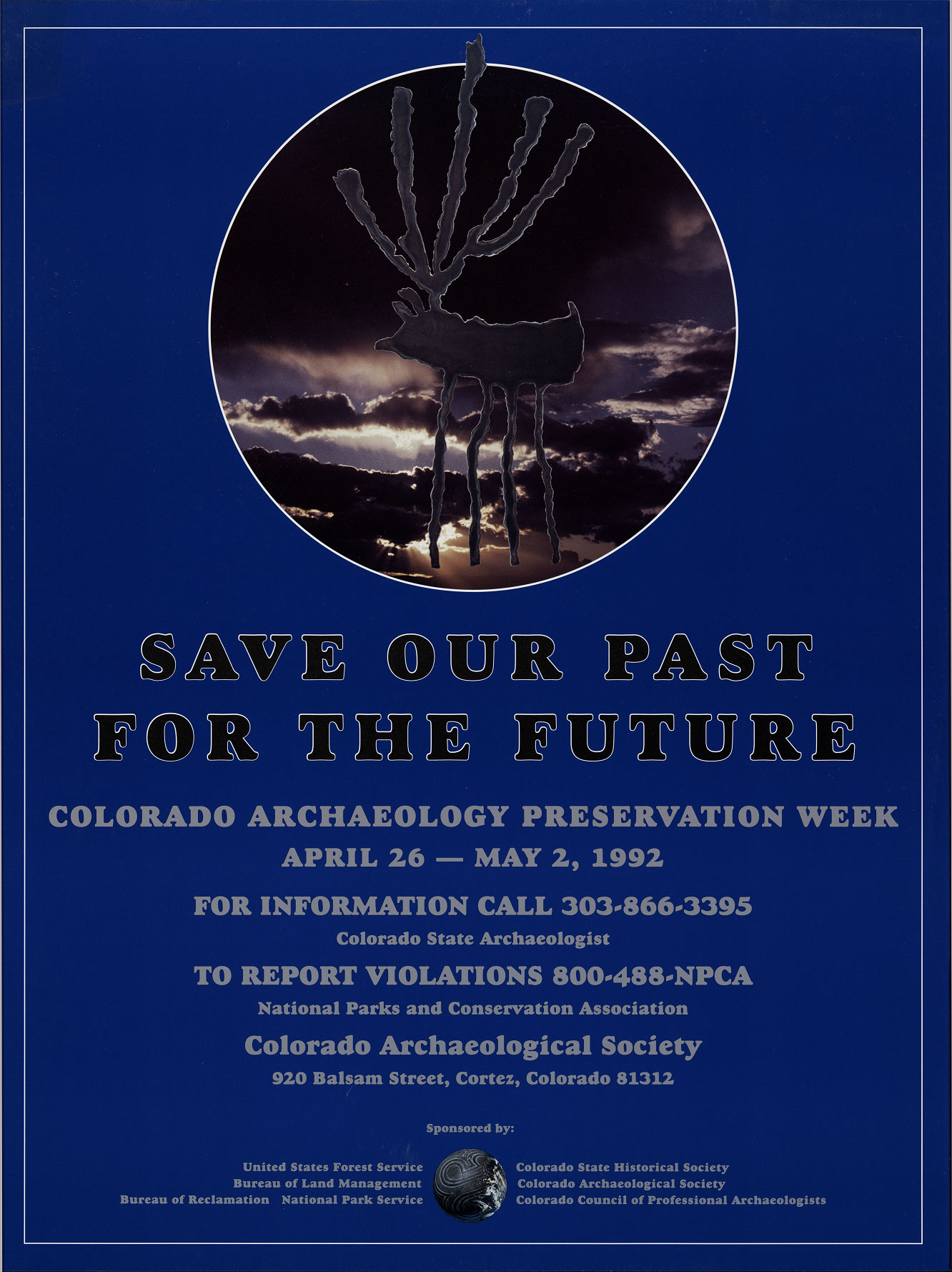 1992 Archaeology & Historic Preservation Week poster.