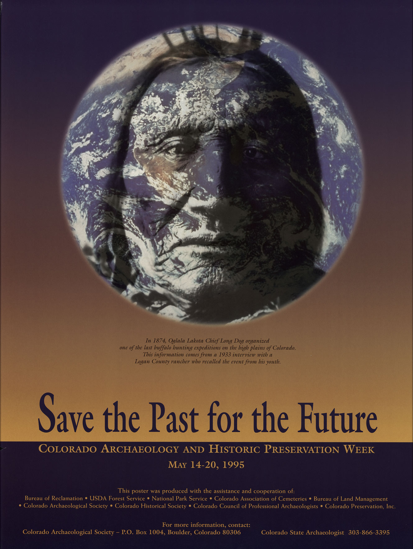 1995 Archaeology & Historic Preservation Week poster.