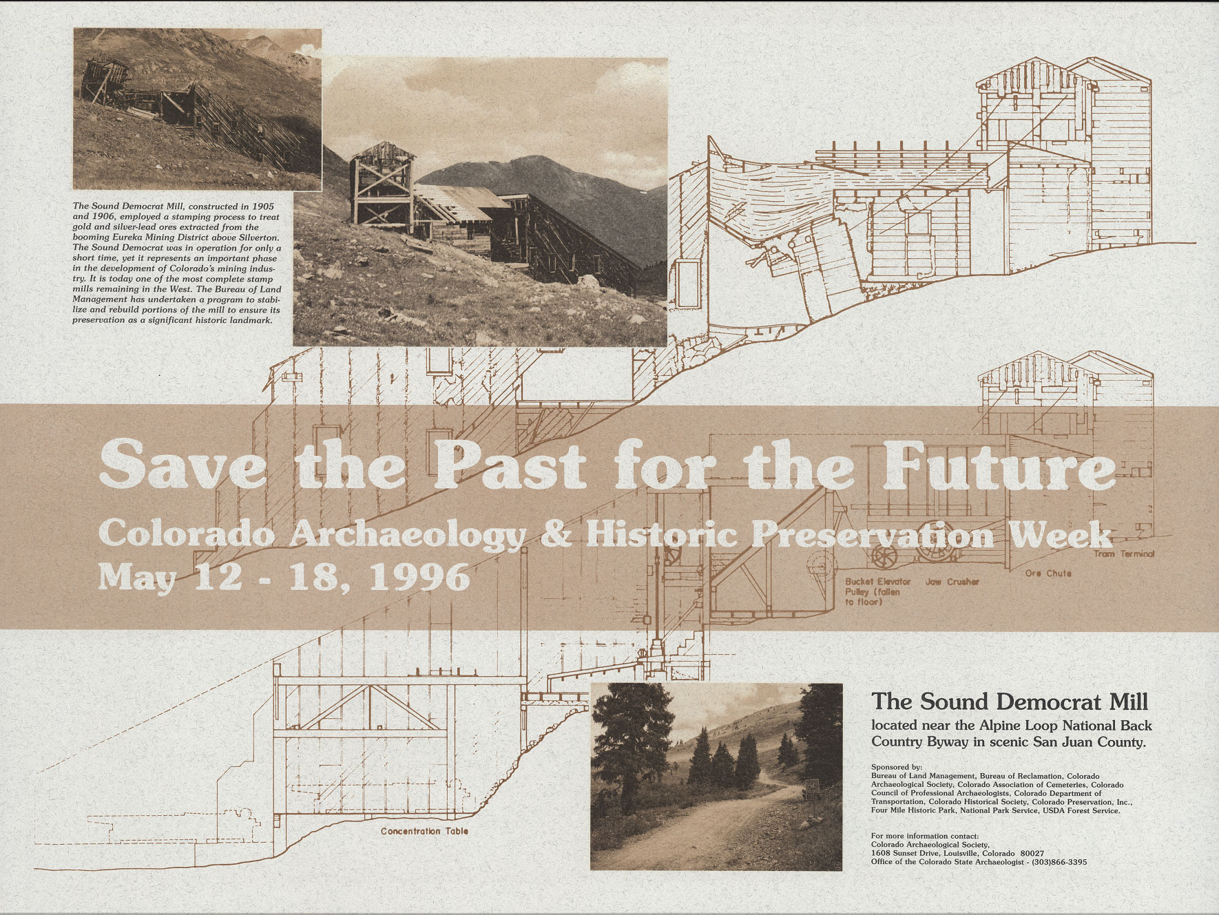 1996 Archaeology & Historic Preservation Week poster.