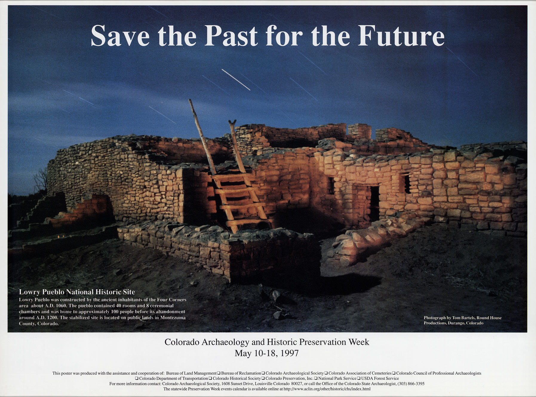 1997 Archaeology & Historic Preservation Week poster.
