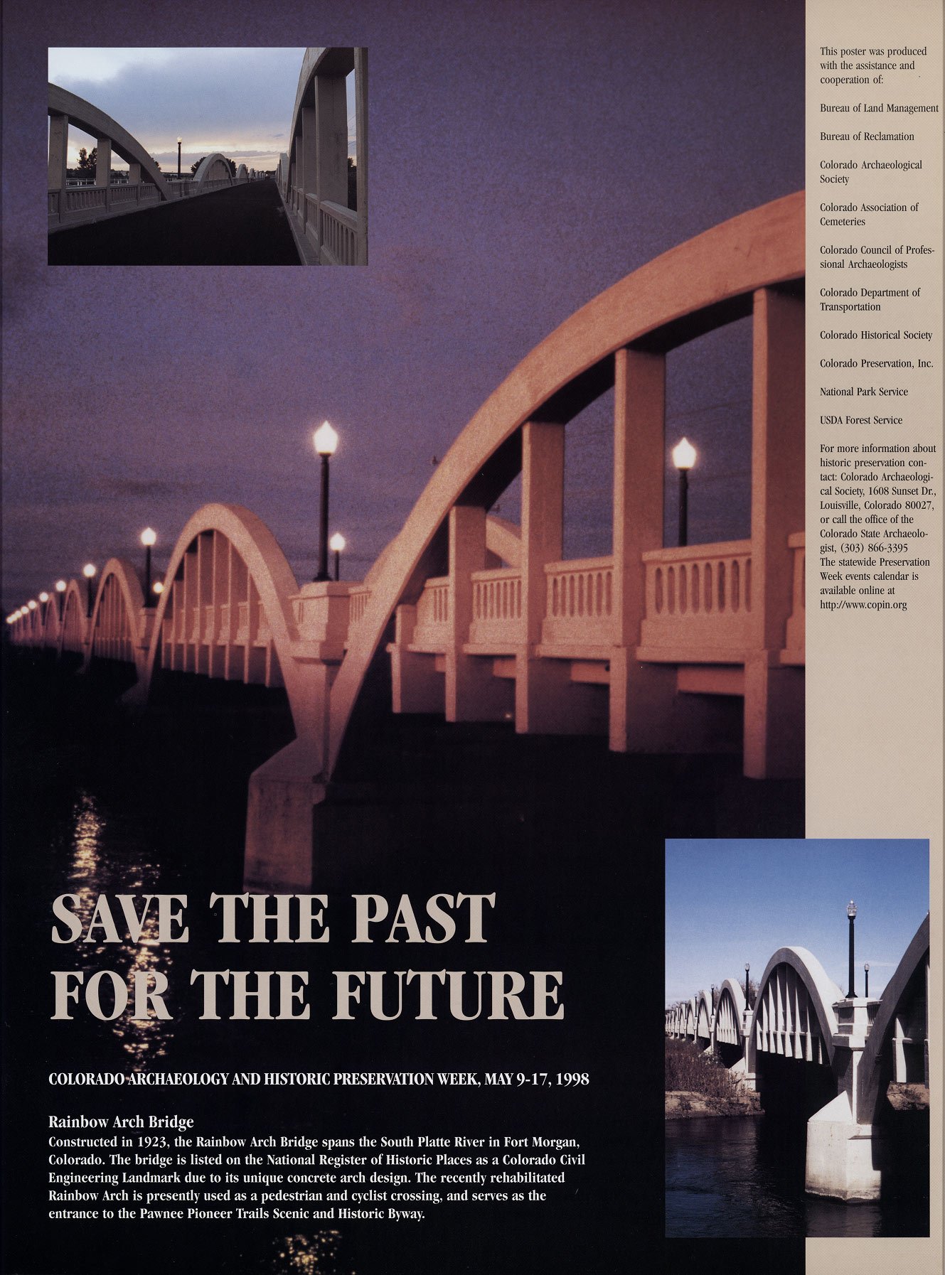 1998 Archaeology & Historic Preservation Week poster.