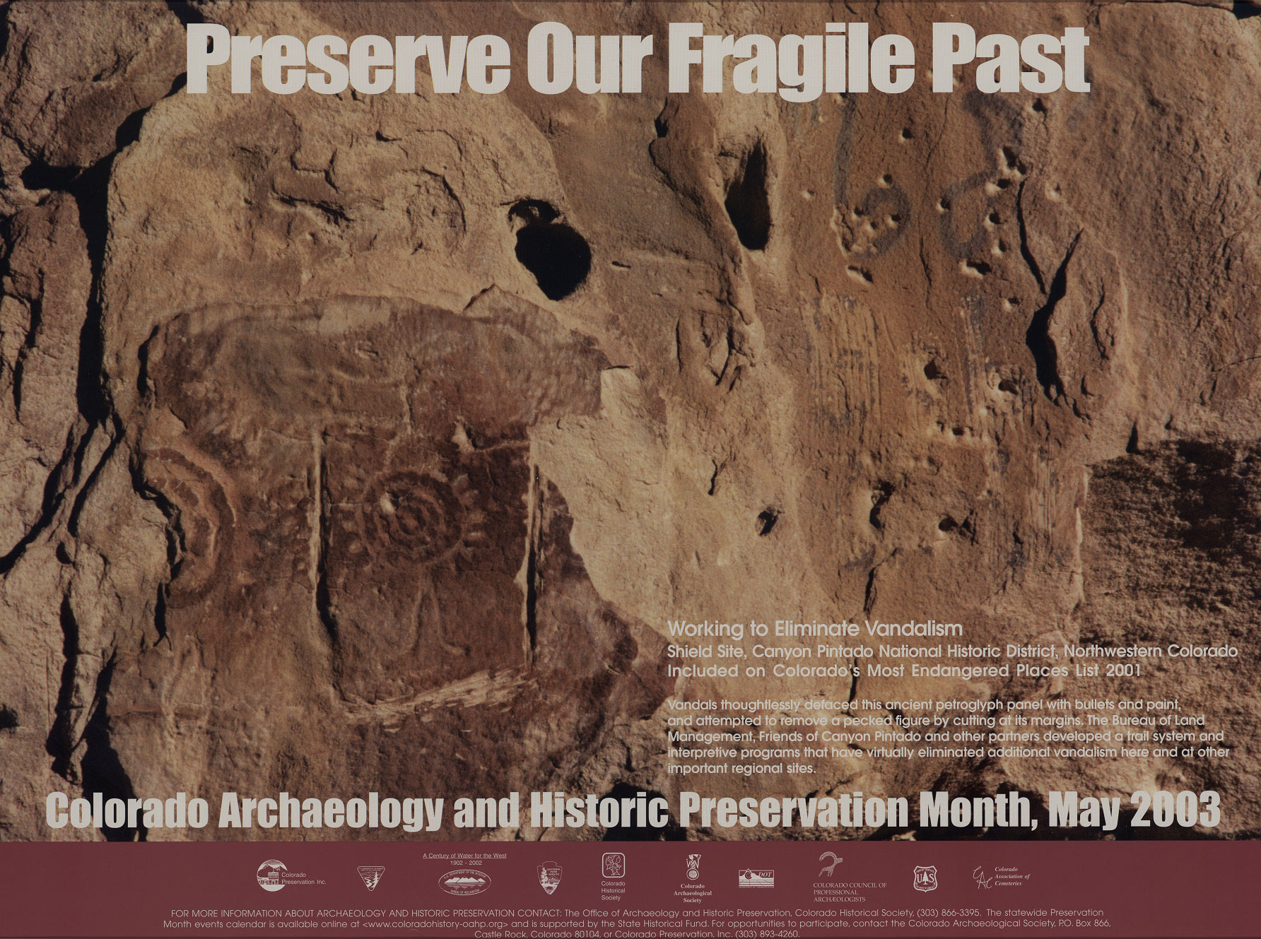 2003 Archaeology & Historic Preservation Month poster.