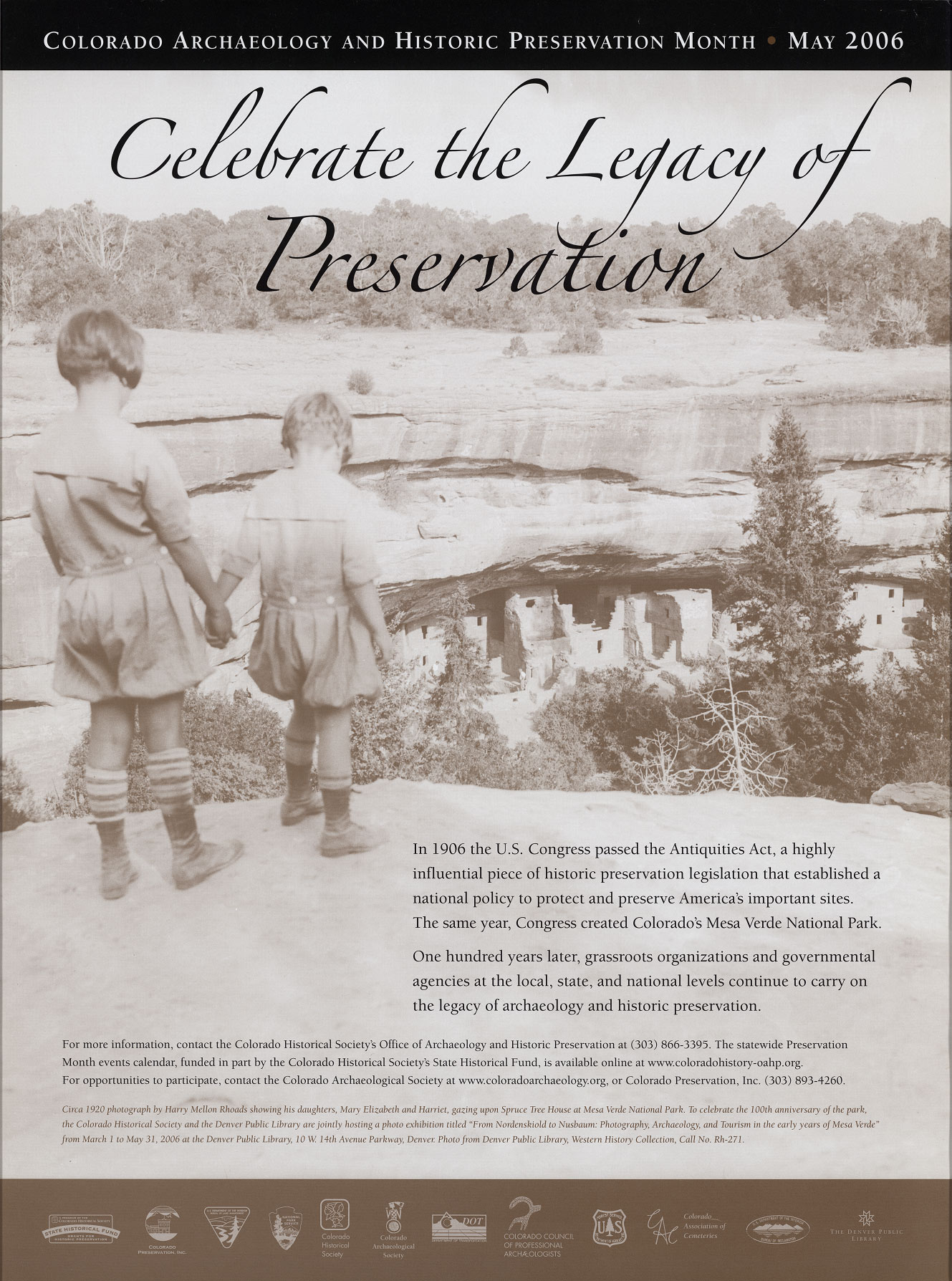 2006 Archaeology & Historic Preservation Month poster.