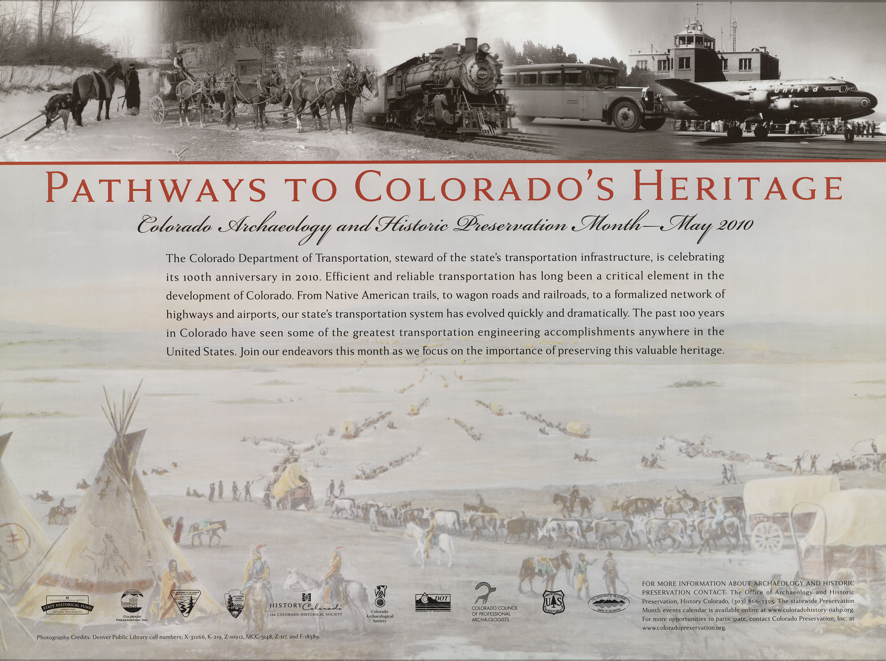 2010 Archaeology & Historic Preservation Month poster.
