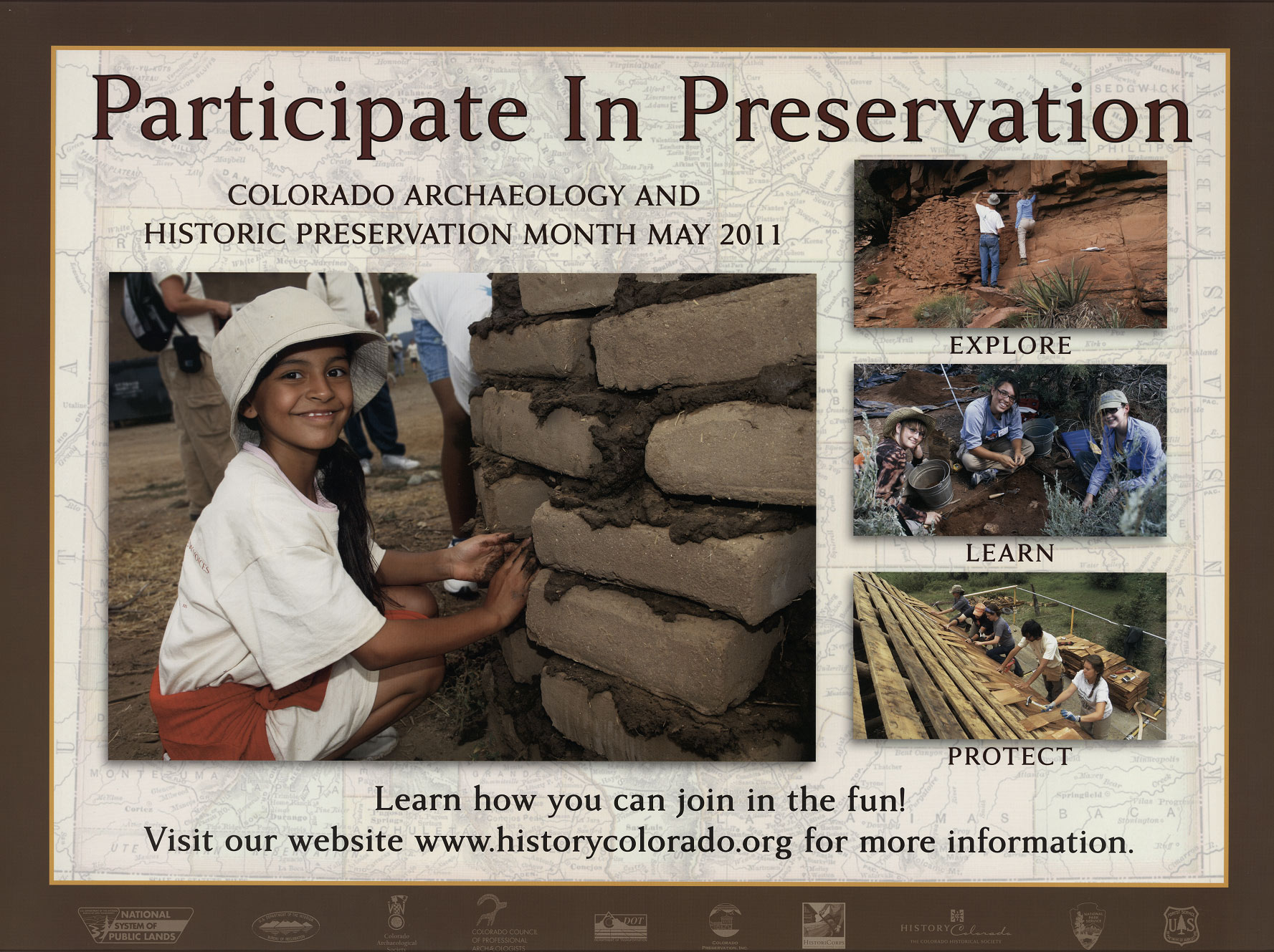 2011 Archaeology & Historic Preservation Month poster.