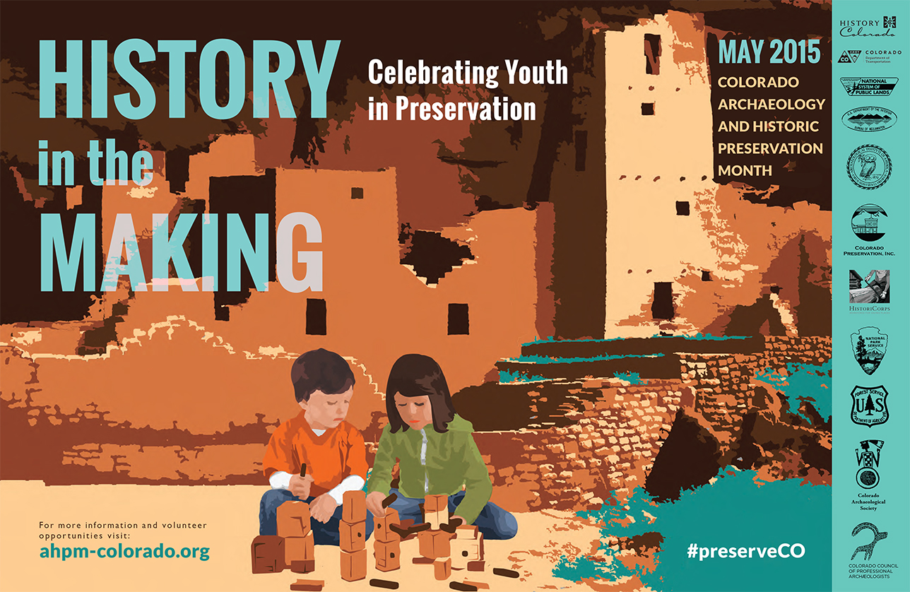 2015 Archaeology & Historic Preservation Month poster.