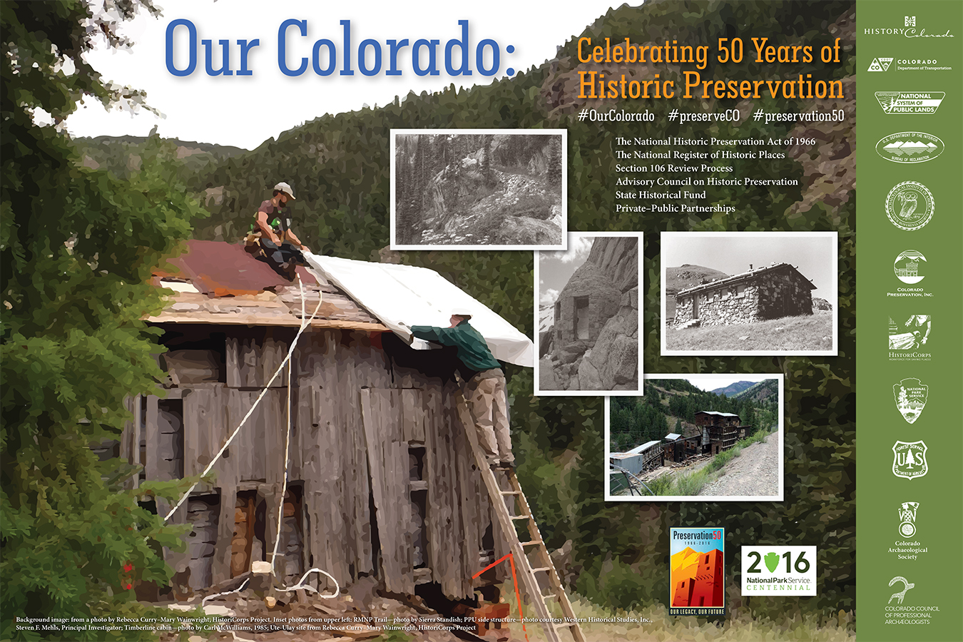 2016 Archaeology & Historic Preservation Month poster.