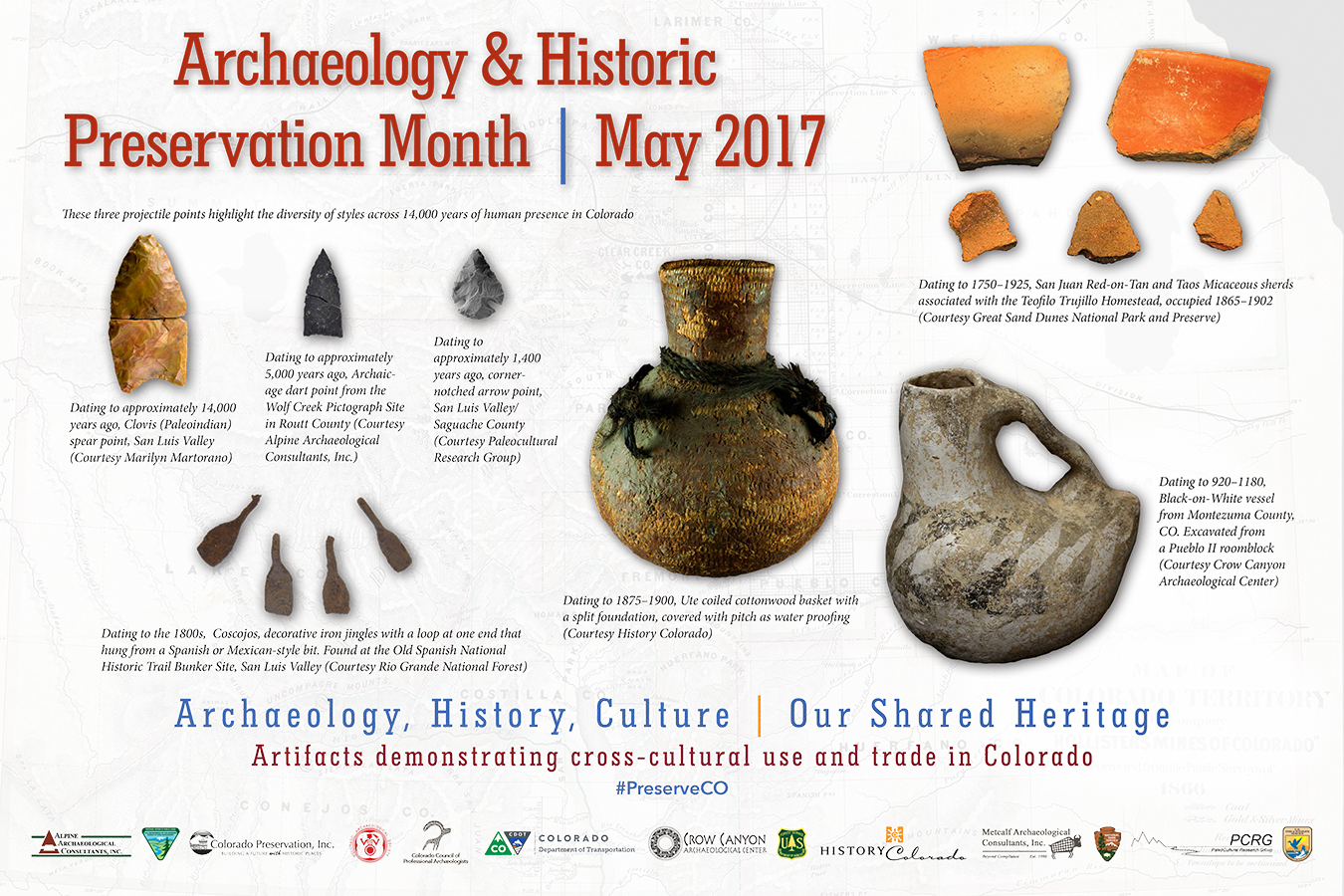 2017 Archaeology & Historic Preservation Month poster.