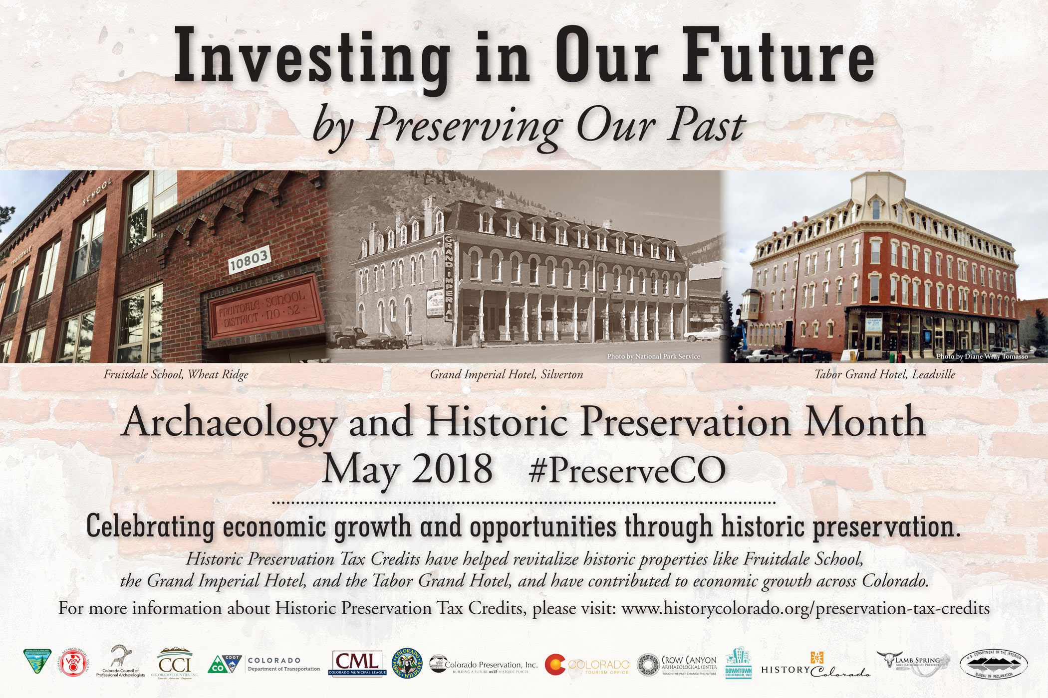2018 Archaeology & Historic Preservation Month poster.