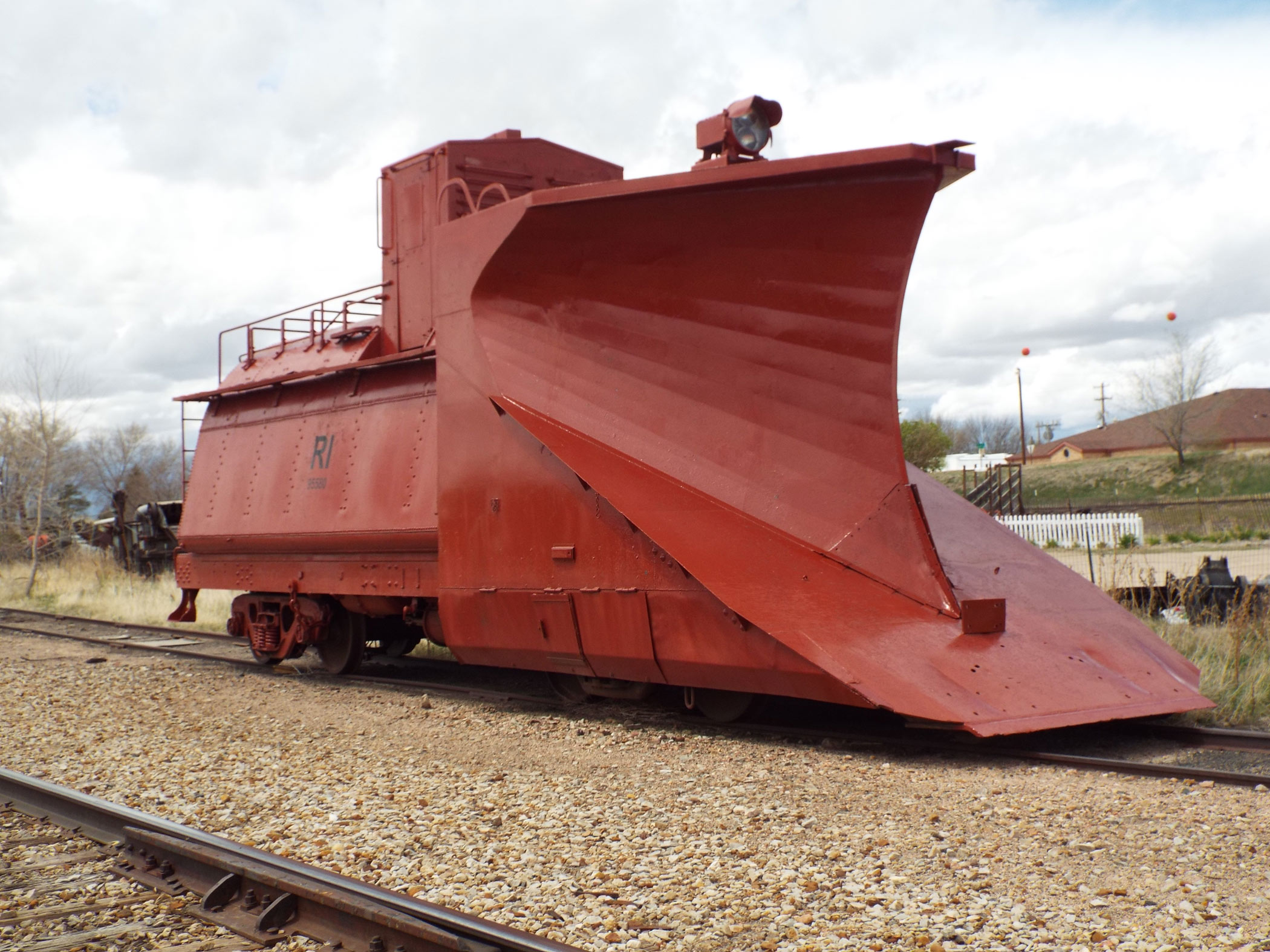 Rock Island Snow Plow No. 95580.