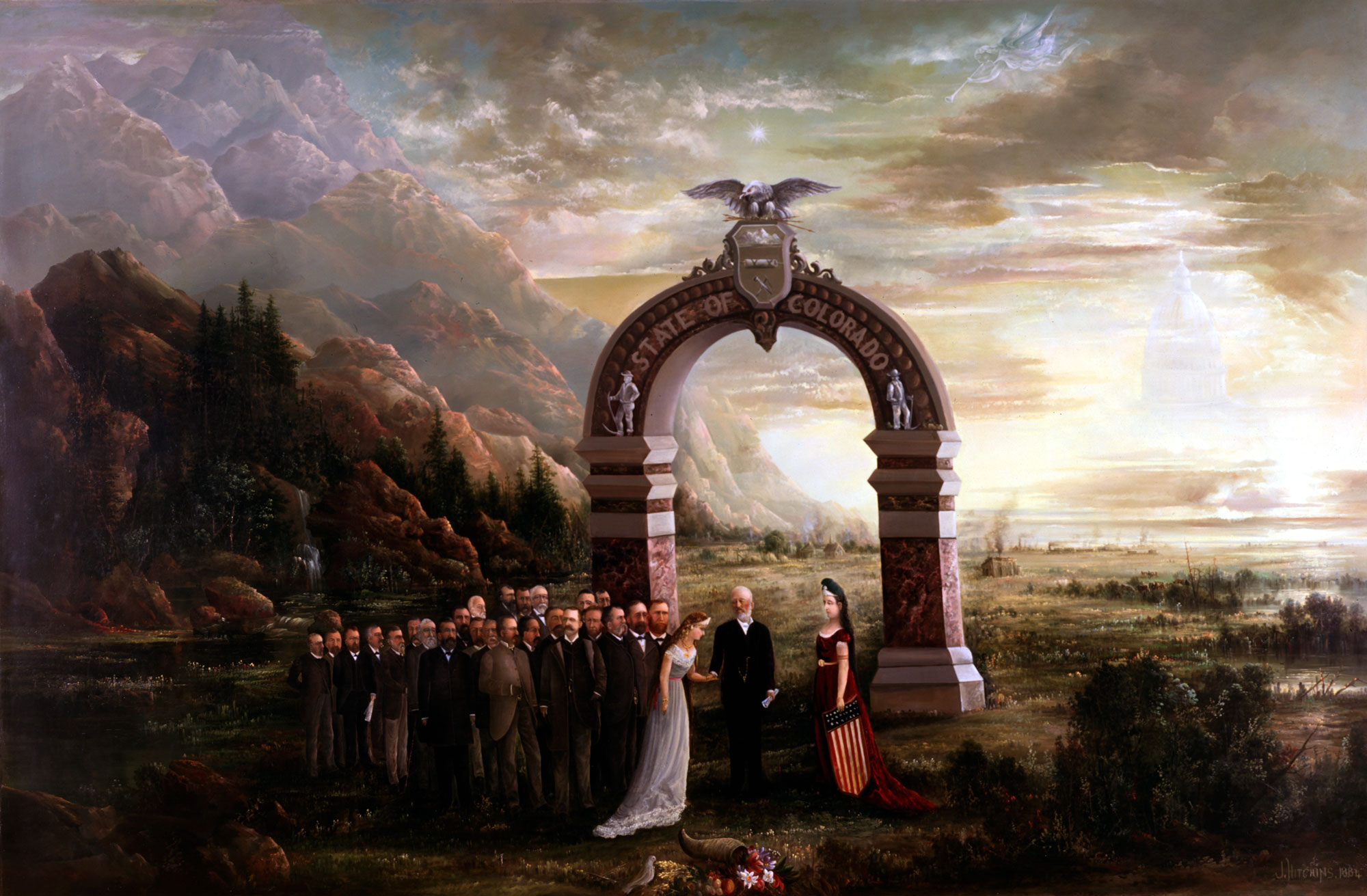 "Painting ""ADMISSION OF COLORADO TO THE UNION"""