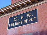 Sign on the wall of the Colorado & Southern Freight Depot.