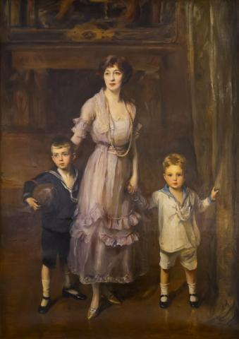Oil painting of Evalyn Walsh McLean and Her Sons, 1925
