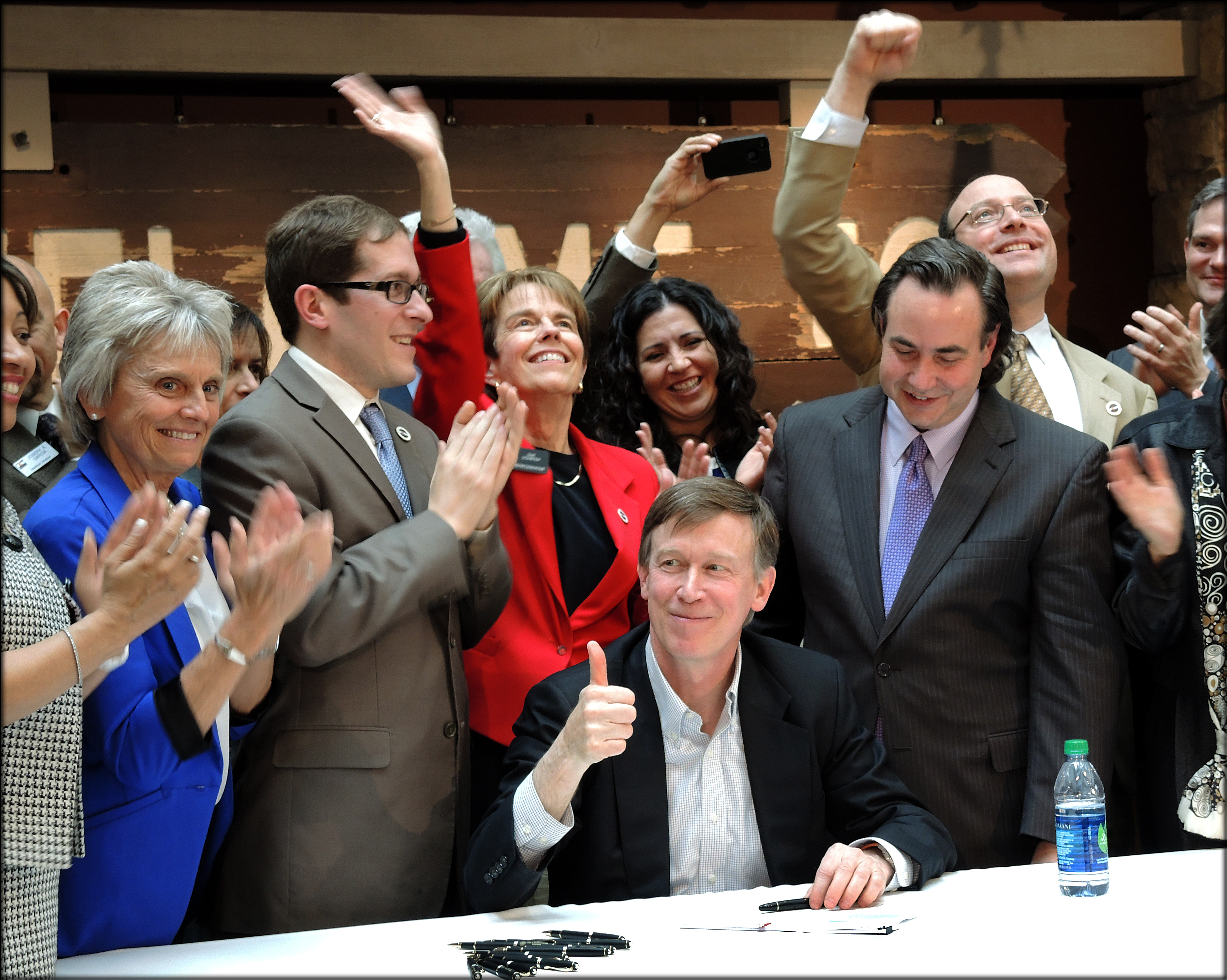 Governor Hickenlooper signing Civil Unions bill