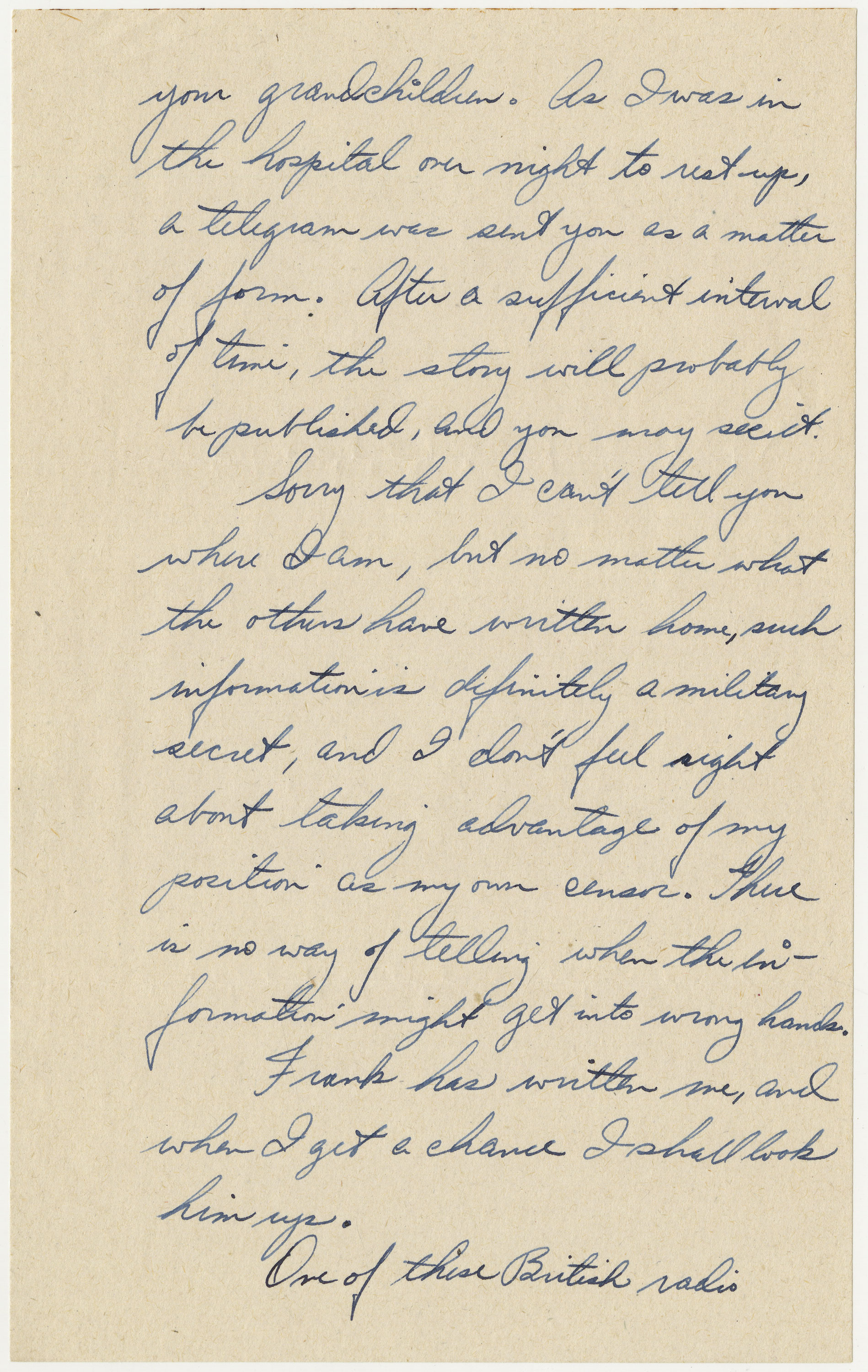 page 3 of letter written by Bischoff on May 12, 1944