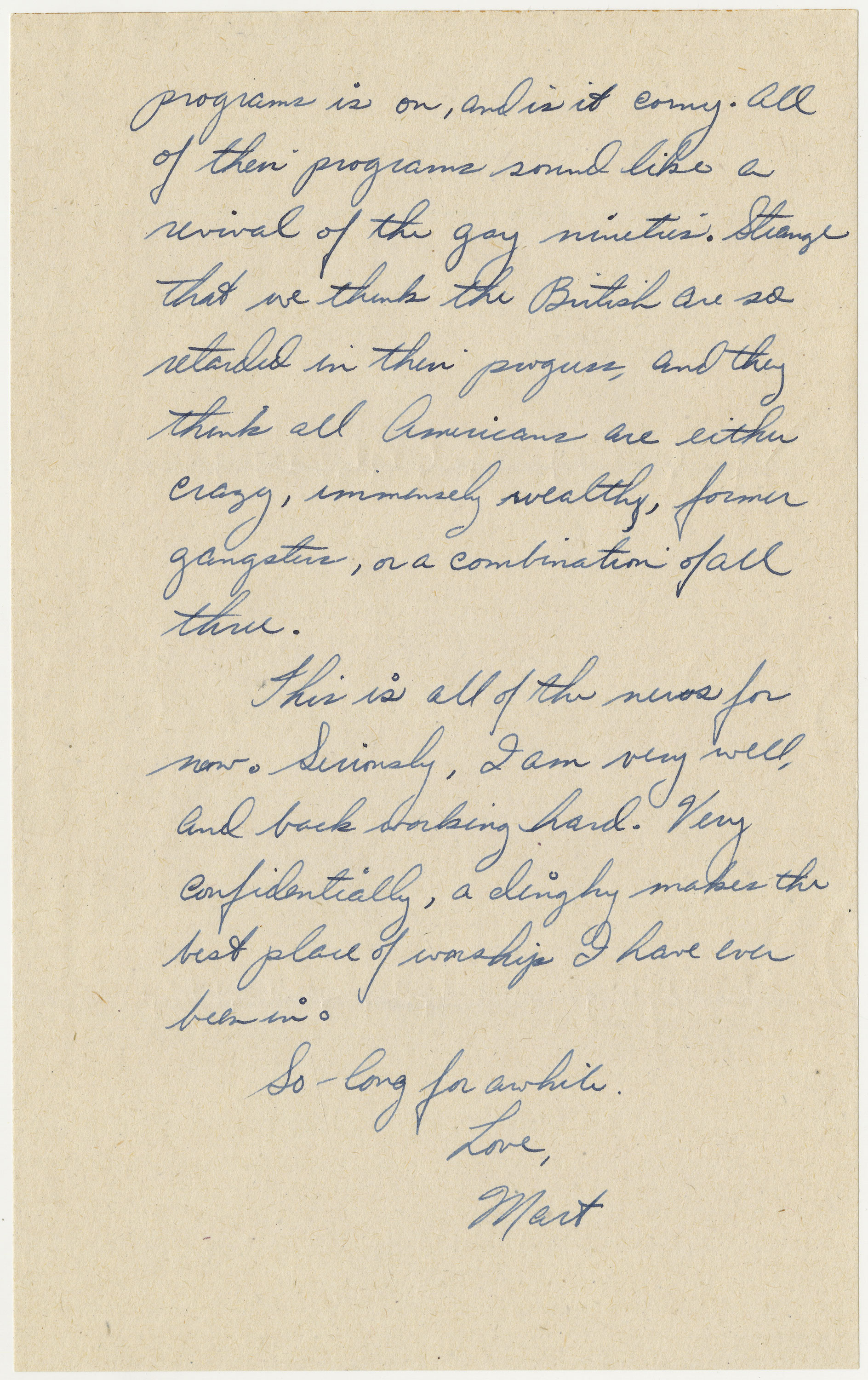 page 4 of letter written by Bischoff on May 12, 1944
