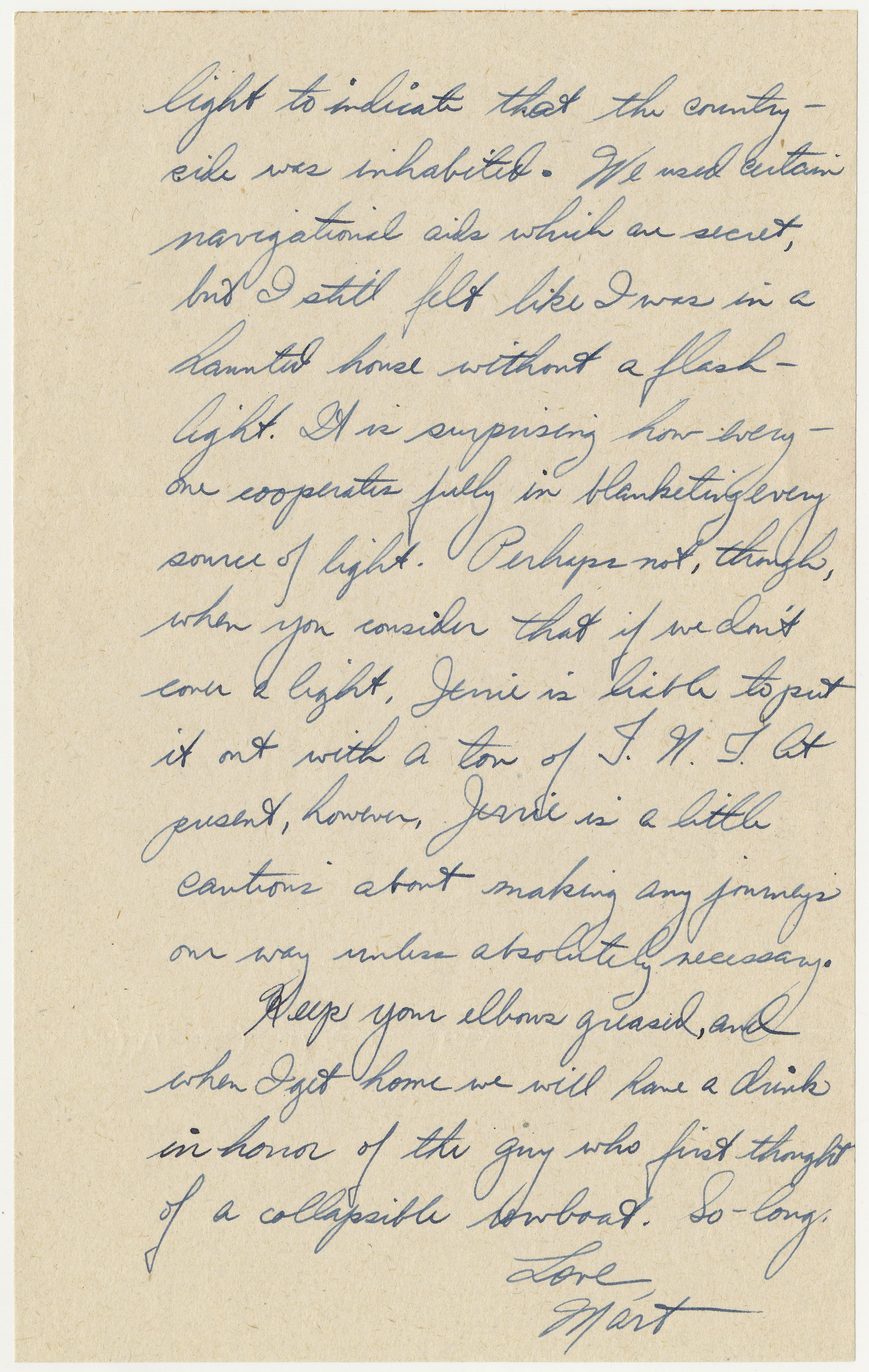 page 3 of letter written by Bischoff on May 24, 1944