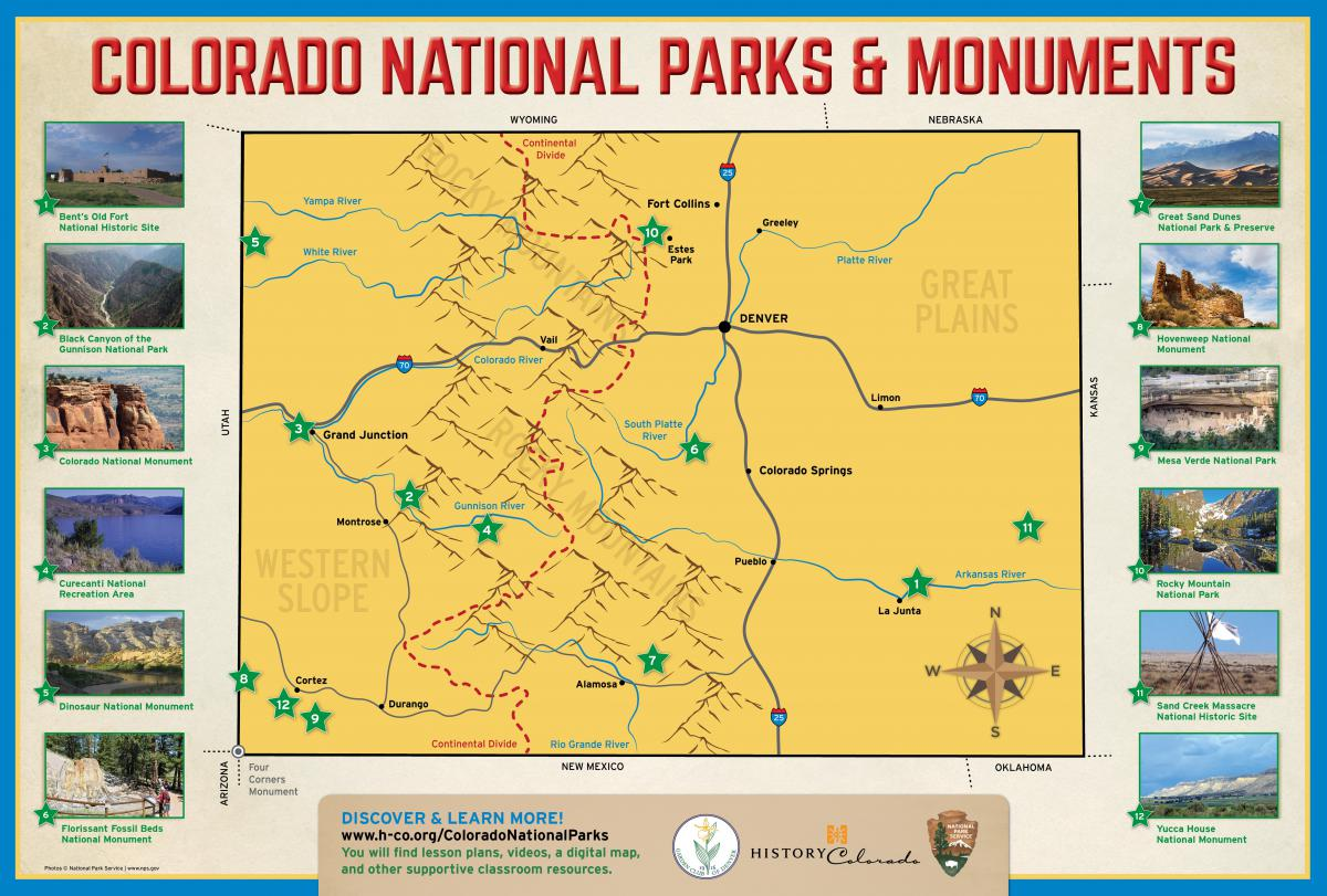 Colorado National Parks map