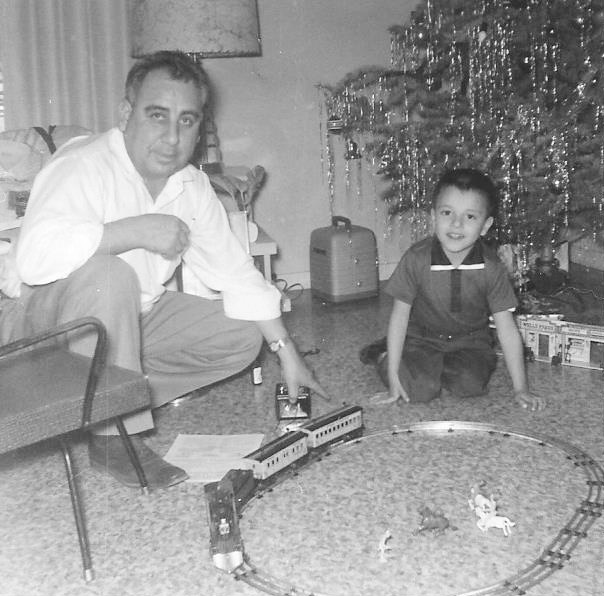 Larry Apodaca as a child with his father Gene Apodaca