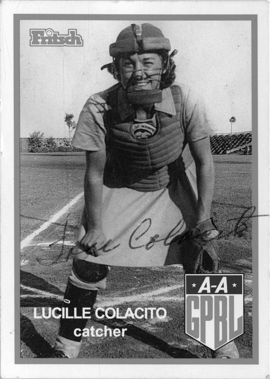 Lucille Colacito baseball card